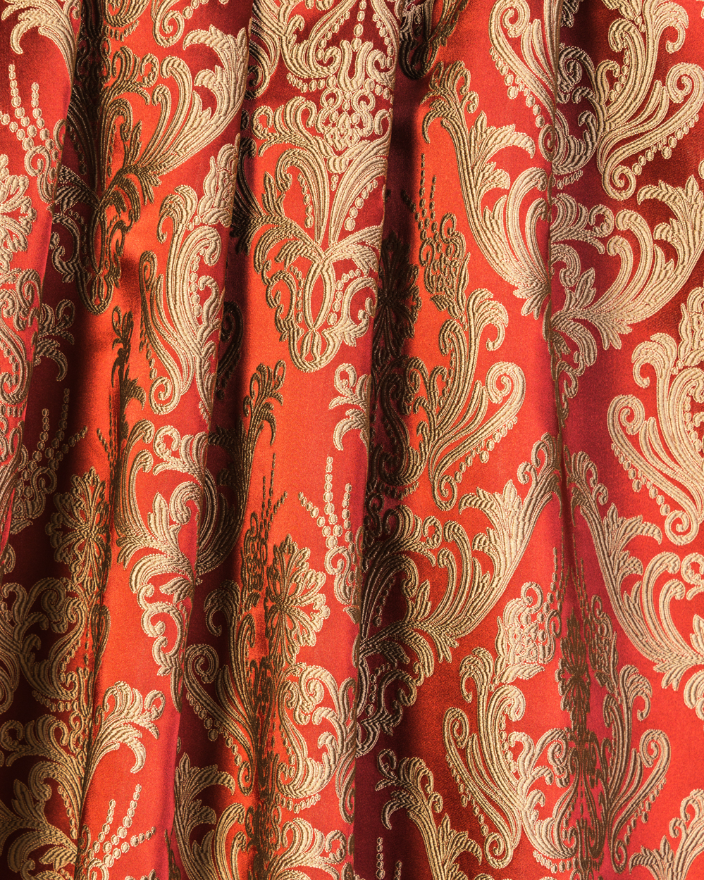 Styles classic style brocade brocade curtain for Red and gold drapes